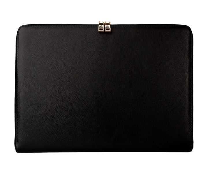 "Mon Purse Pebbled Laptop Bag 15"" in Black"
