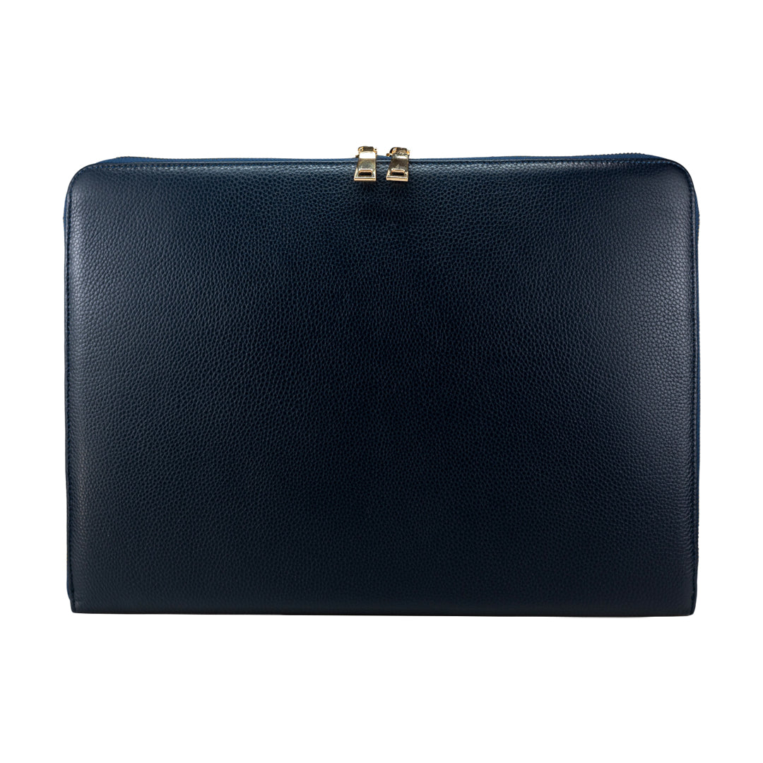 "Mon Purse Pebbled Laptop Bag 15"" in Navy"