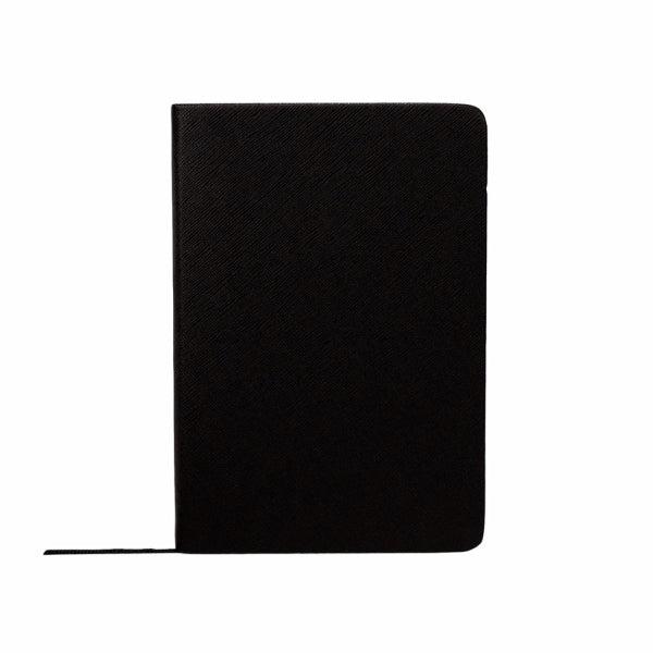 Mon Purse Small Saffiano Notebook in Black
