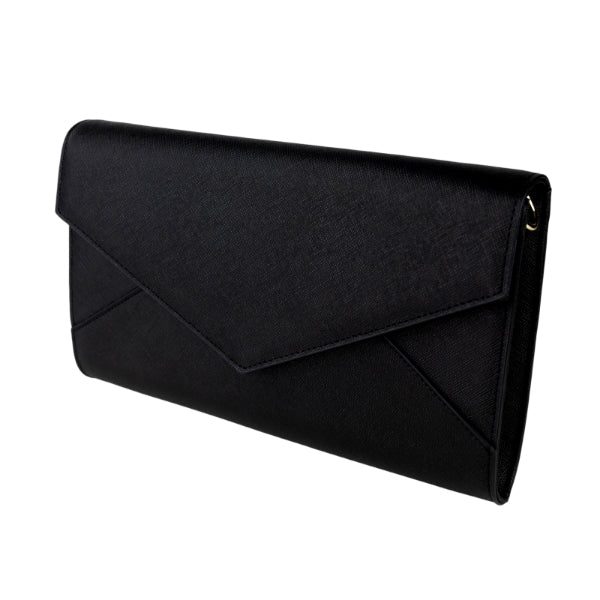 Push The Envelope Clutch Bag in Black