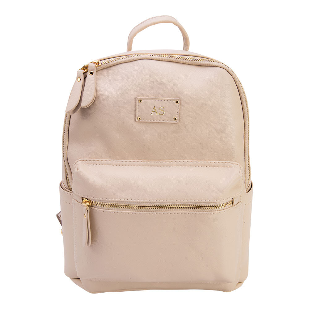 Baby-Got-Back Baby Bag in Cream Vegan Leather