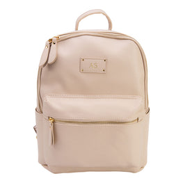 Cream Vegan Leather Baby Backpack Bag
