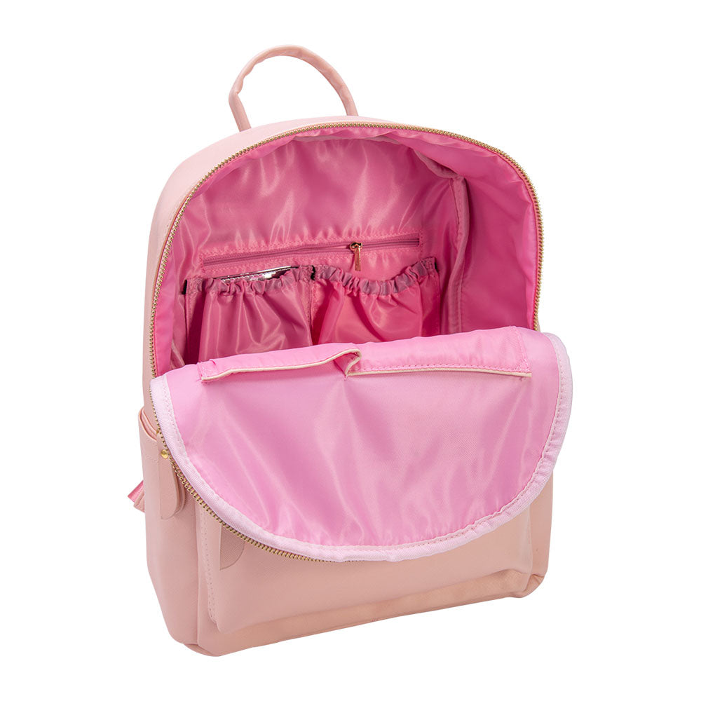 Baby-Got-Back Baby Bag in Pink Vegan Leather