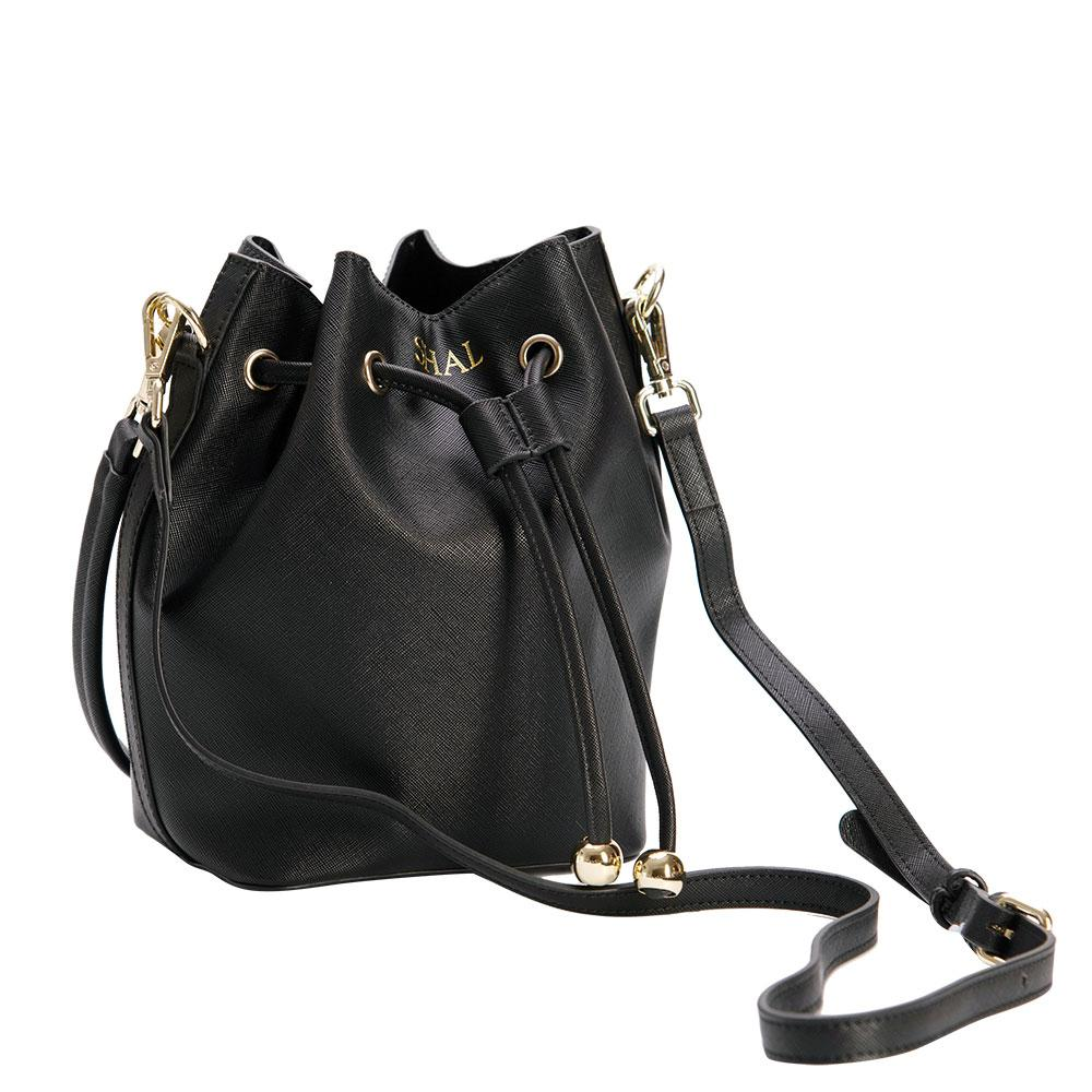 Bucket Bag Mini in Black Vegan Leather