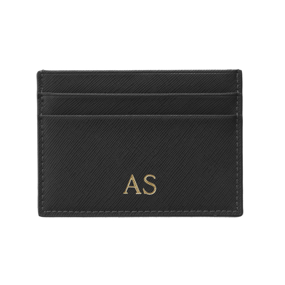 Cardholder in Black Saffiano Leather - OLIVIA&CO.
