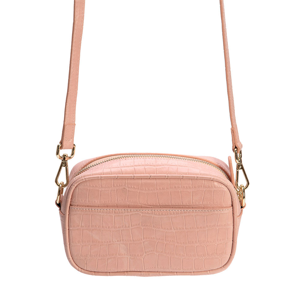 Croc N Roll Side Bag in Pink