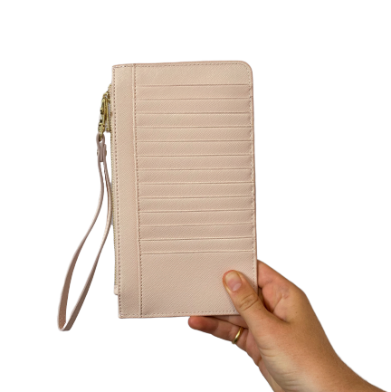 Phone Wallet in Blush Pink