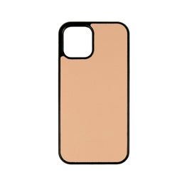 iPhone 12 and iPhone 12 Pro Case in Taupe Saffiano Leather