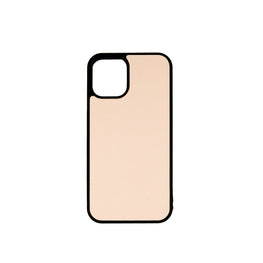 iPhone 12 Mini Case in Blush Saffiano Leather