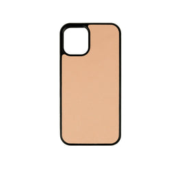 iPhone 12 Mini Case in Taupe Saffiano Leather