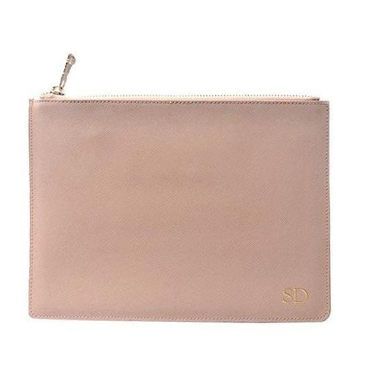 Large Pouch in Taupe - OLIVIA&CO.