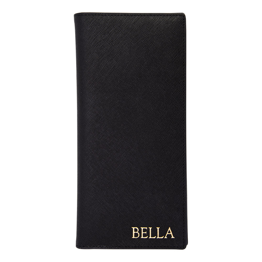 Jetsetter Long Passport Holder in Black