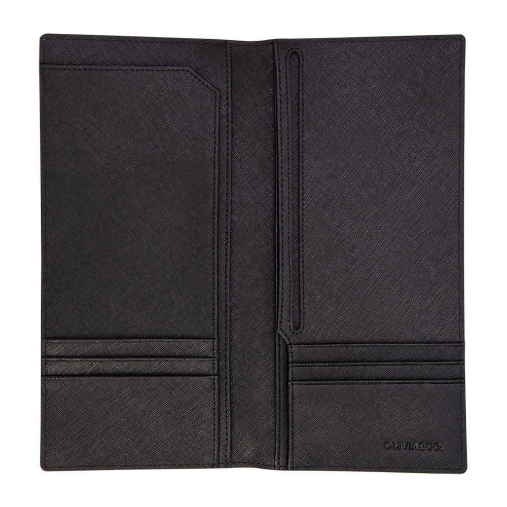 Long Passport Holder in Black