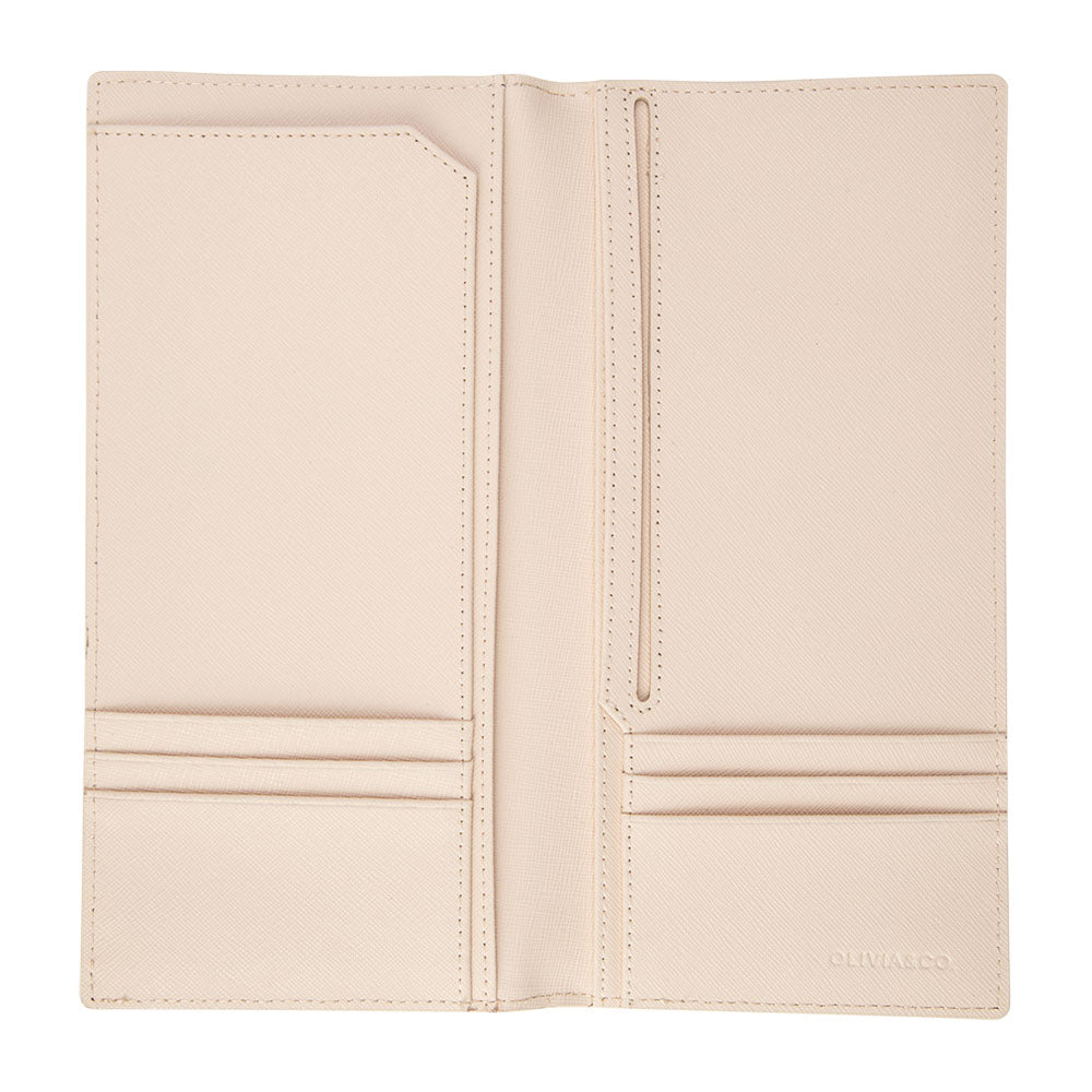Long Passport Holder in Pale Pink