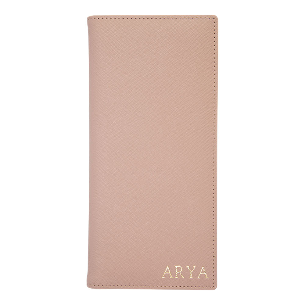 Long Passport Holder in Taupe