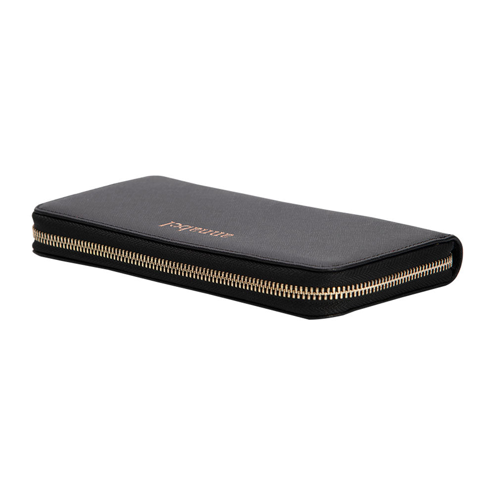 Long Wallet in Black Saffiano Leather