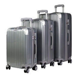 Mon Purse Luggage Set in Silver