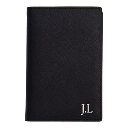 PRE-ORDER - Passport Holder in Black Saffiano Leather