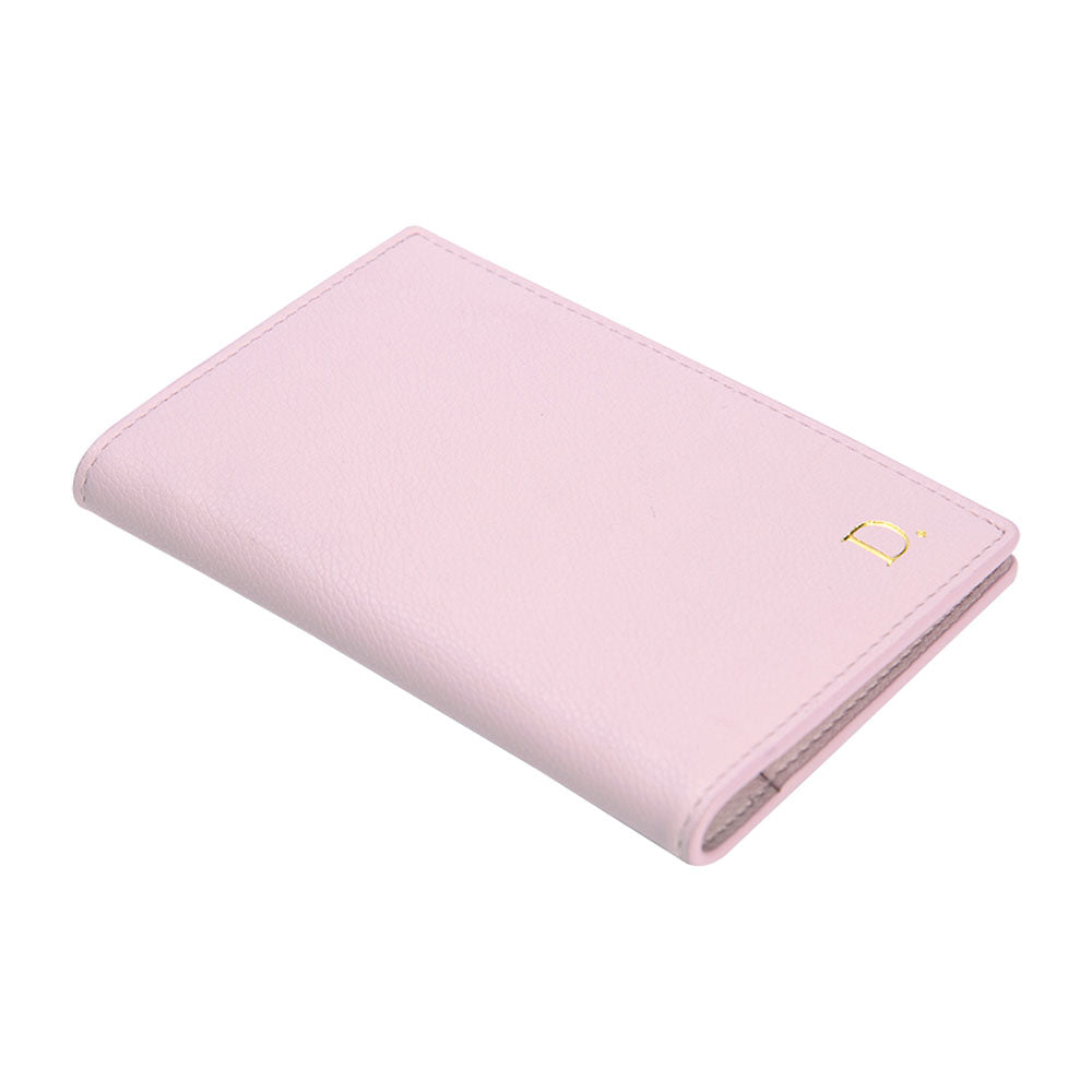 Passport Holder in Pebbled Lilac