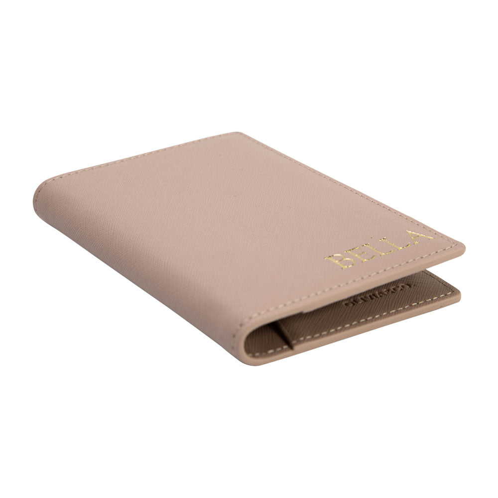 Outta Here Passport Holder in Taupe