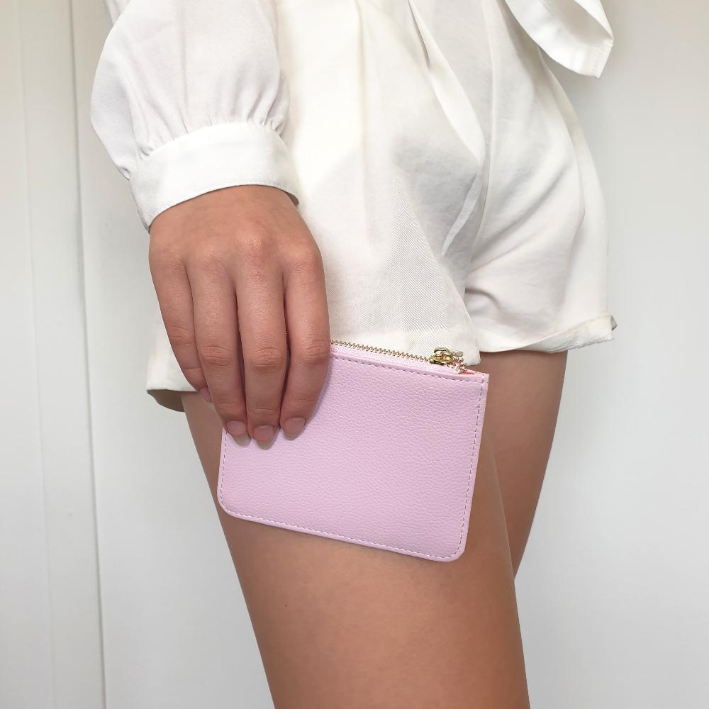 Mini Pebbled Pouch in Lilac