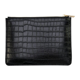 You Croc My World Pouch in Black (with Wrist Strap)