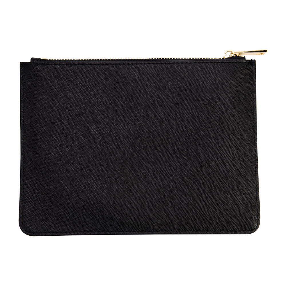 Pouch in Black Saffiano Leather