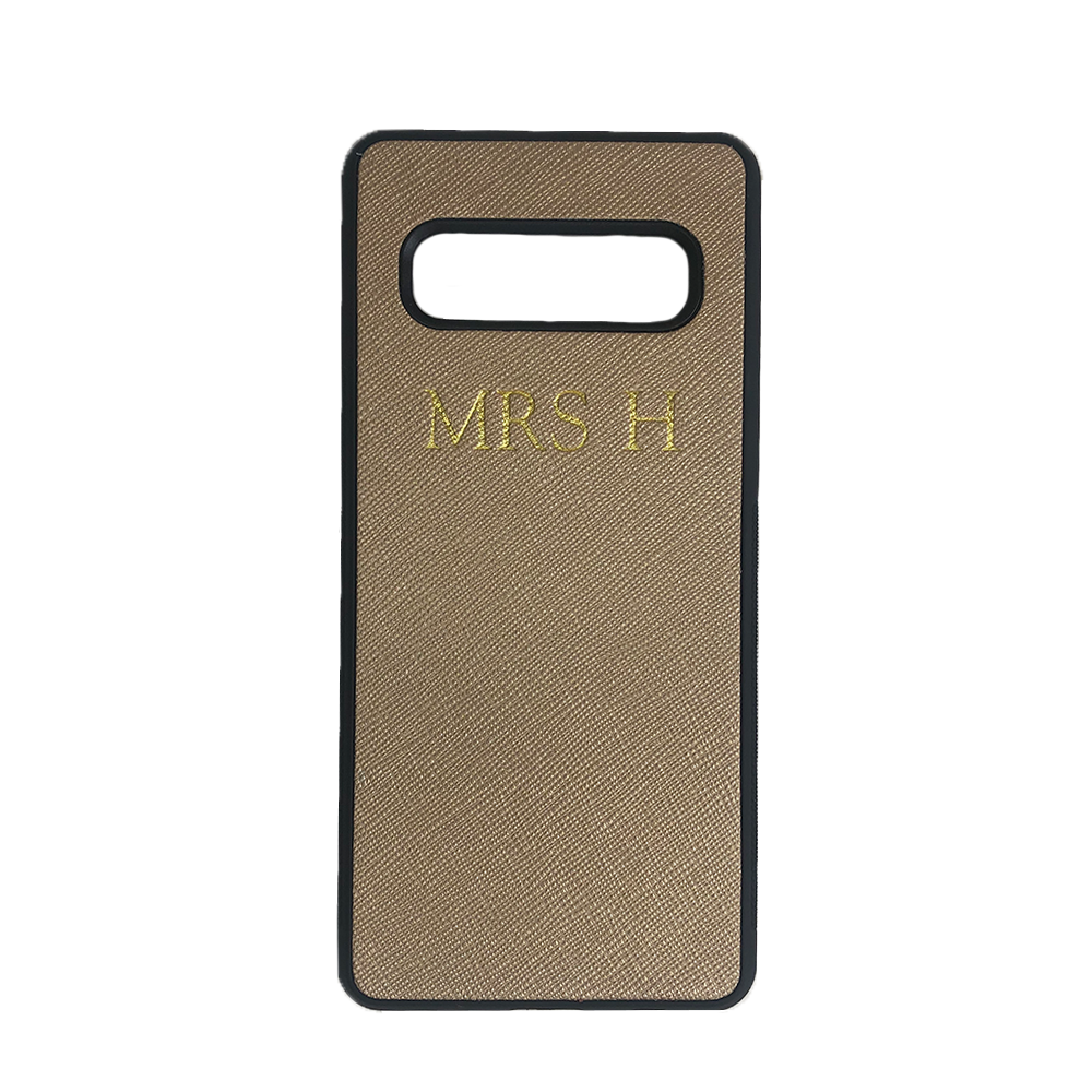 Samsung Galaxy S10 Phone Case in Gold