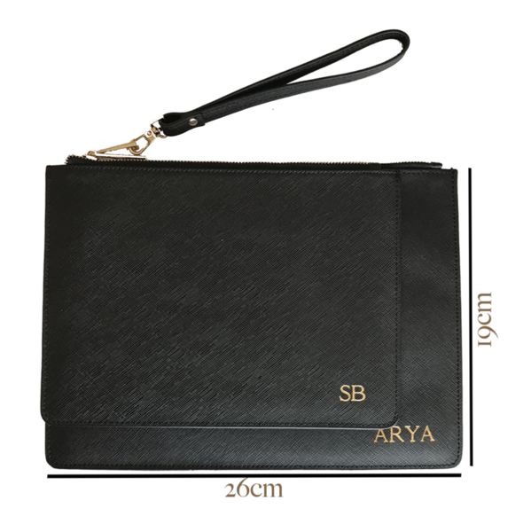 Large Pouch in Black - OLIVIA&CO.