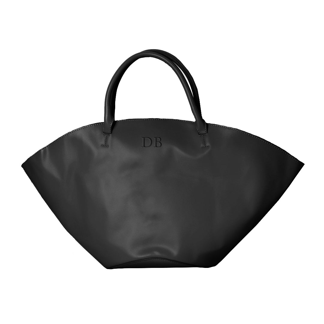 Basket Tote Bag in Black