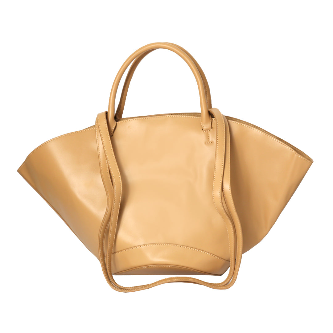 The Basket Tote Bag in Tan