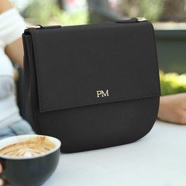 Crossbody Messenger Bag in Black - OLIVIA&CO.
