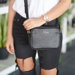 Pebble Rebel Crossbody Bag in Black