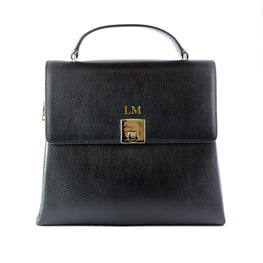 Mon Purse Top Handle Bag in Black