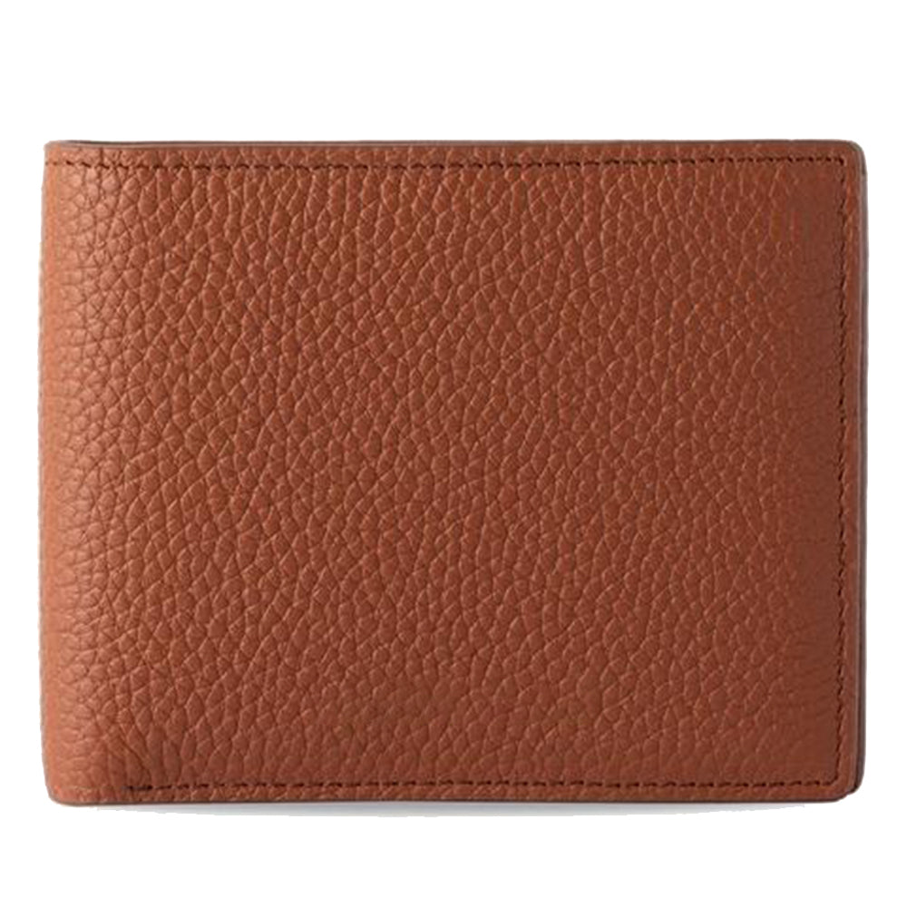 Men's Wallet in Brown Pebbled Leather