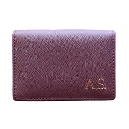 Business Card Holder in Burgundy
