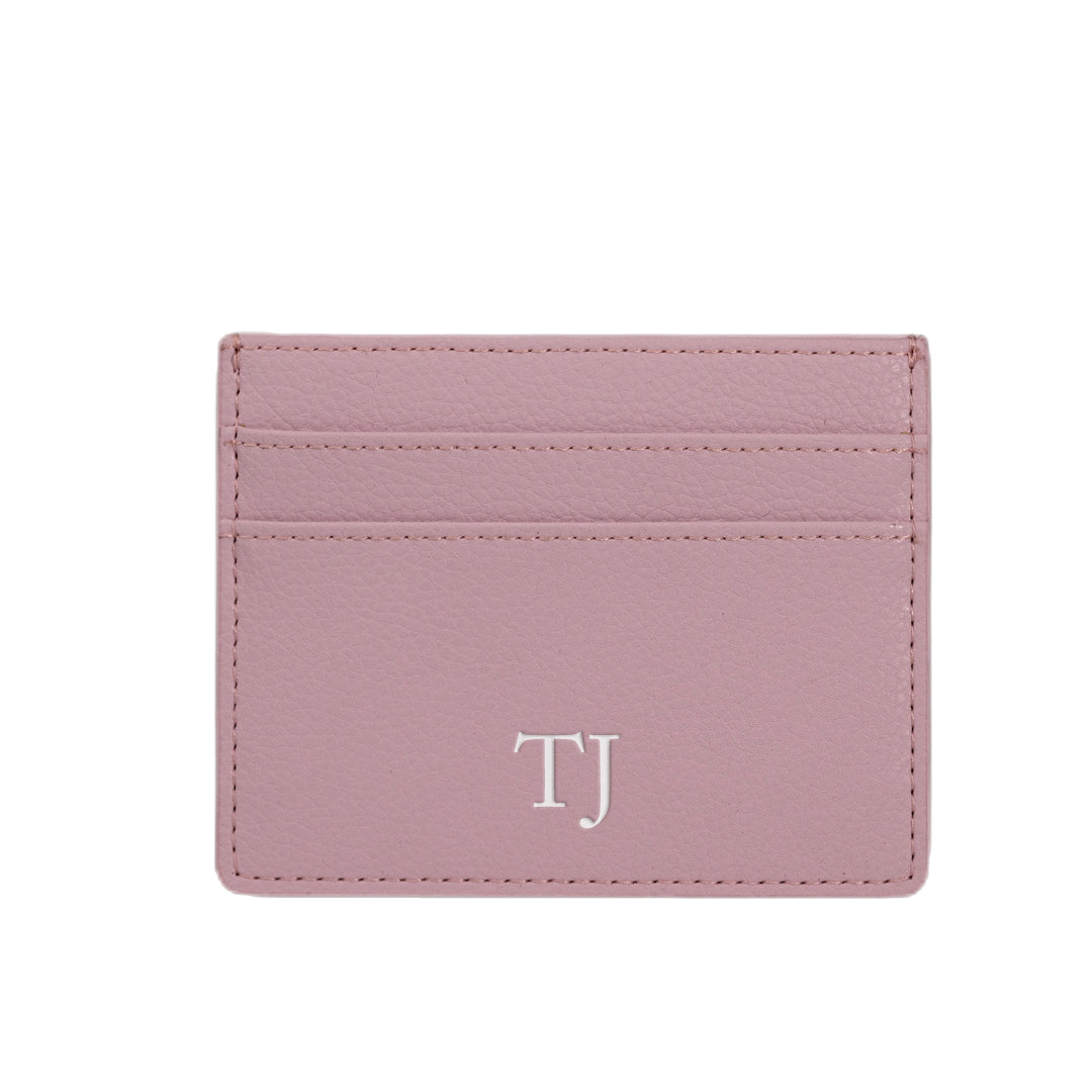 Cardholder in Lilac Pebbled Leather