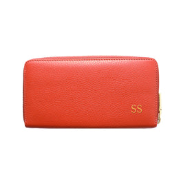 Mon Purse Pebbled Classic Wallet in Red (Gold)