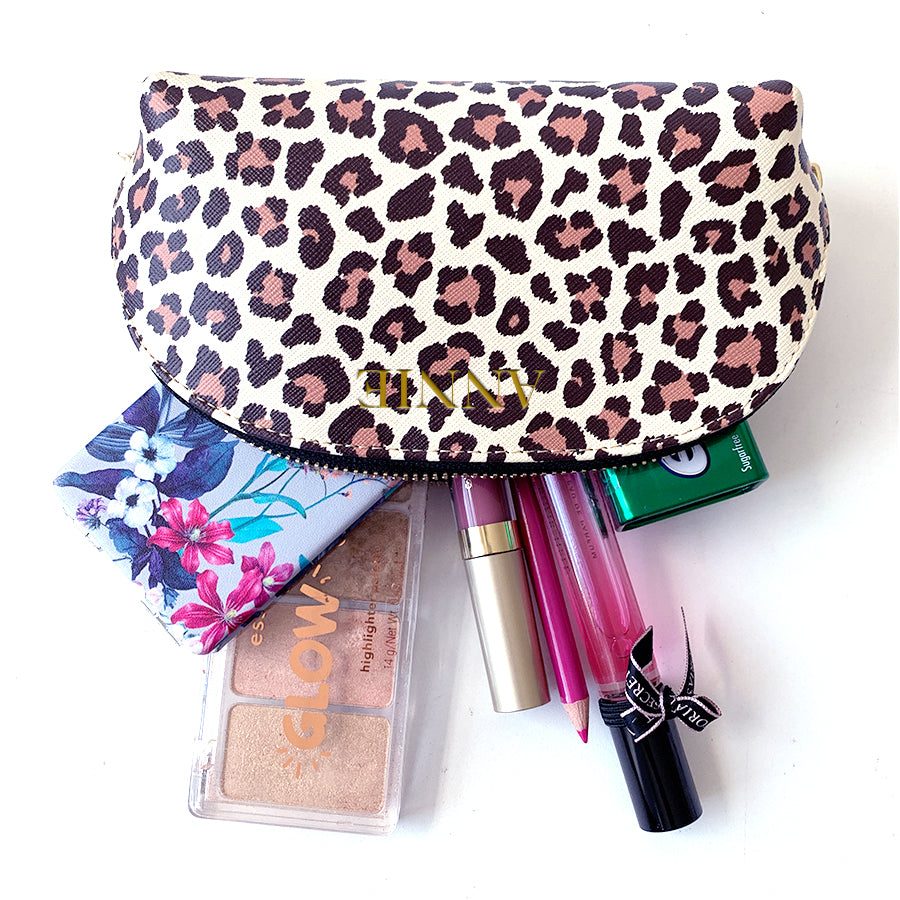 Mini Cosmetics Case in Leopard Print