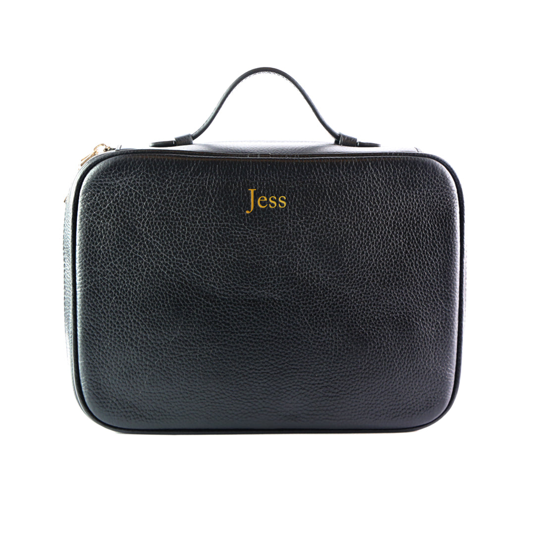 Mon Purse Cosmetic Wash Bag in Black (Gold)