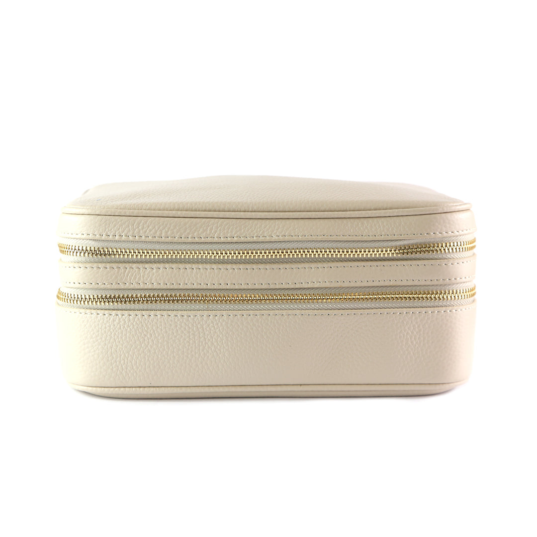 Mon Purse Cosmetic Case Wash Bag in Stone (Gold)