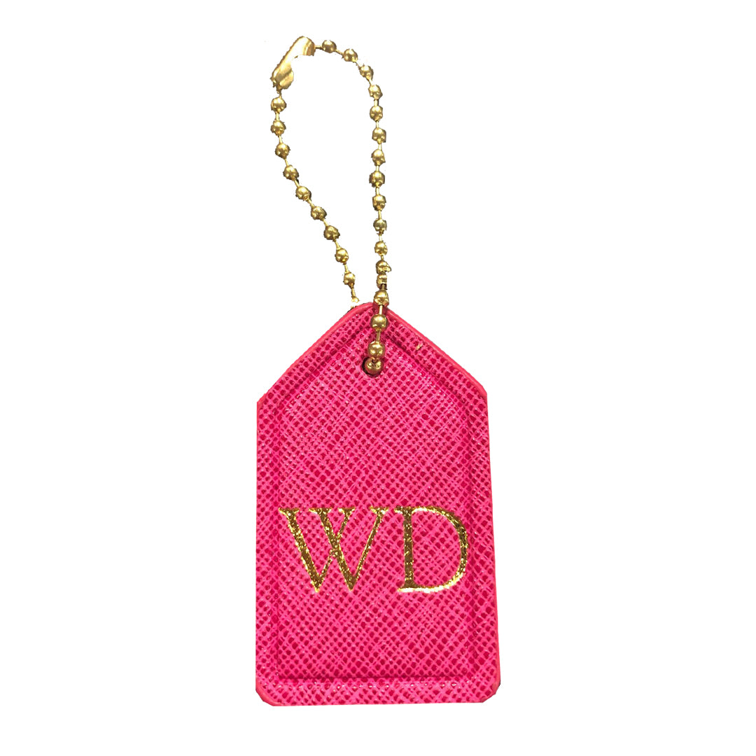 Mini Bag Tag in Hot Pink