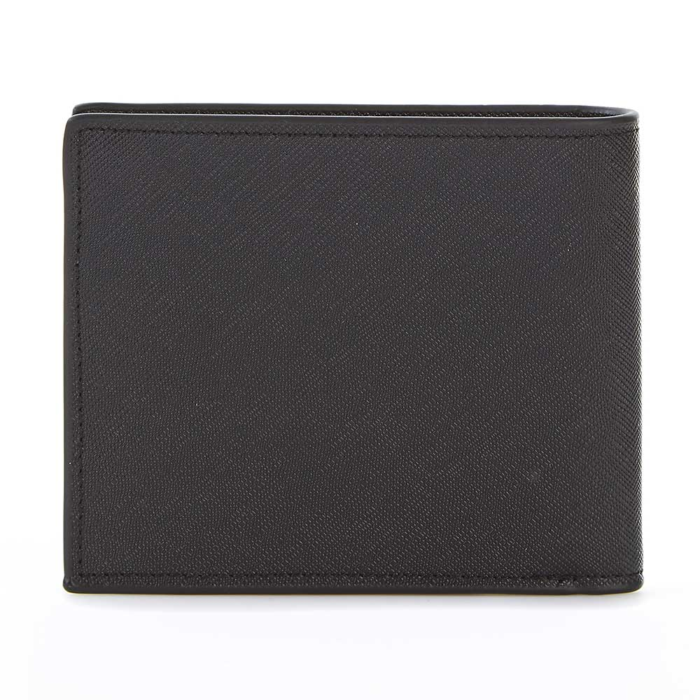 Men's Wallet in Black Saffiano Leather - OLIVIA&CO.