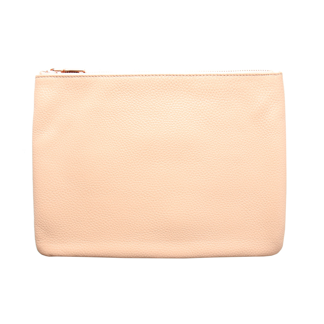 Mon Purse Pebbled Large Pouch in Blush (Rose Gold)