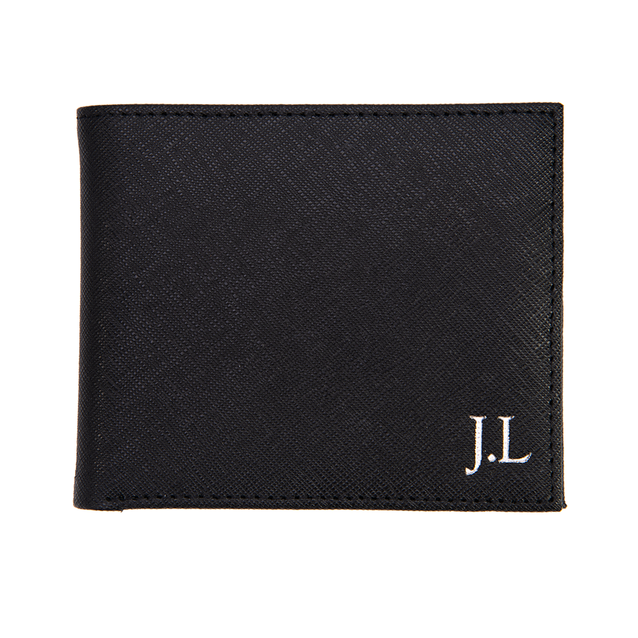 Men's Wallet in Black Saffiano Leather