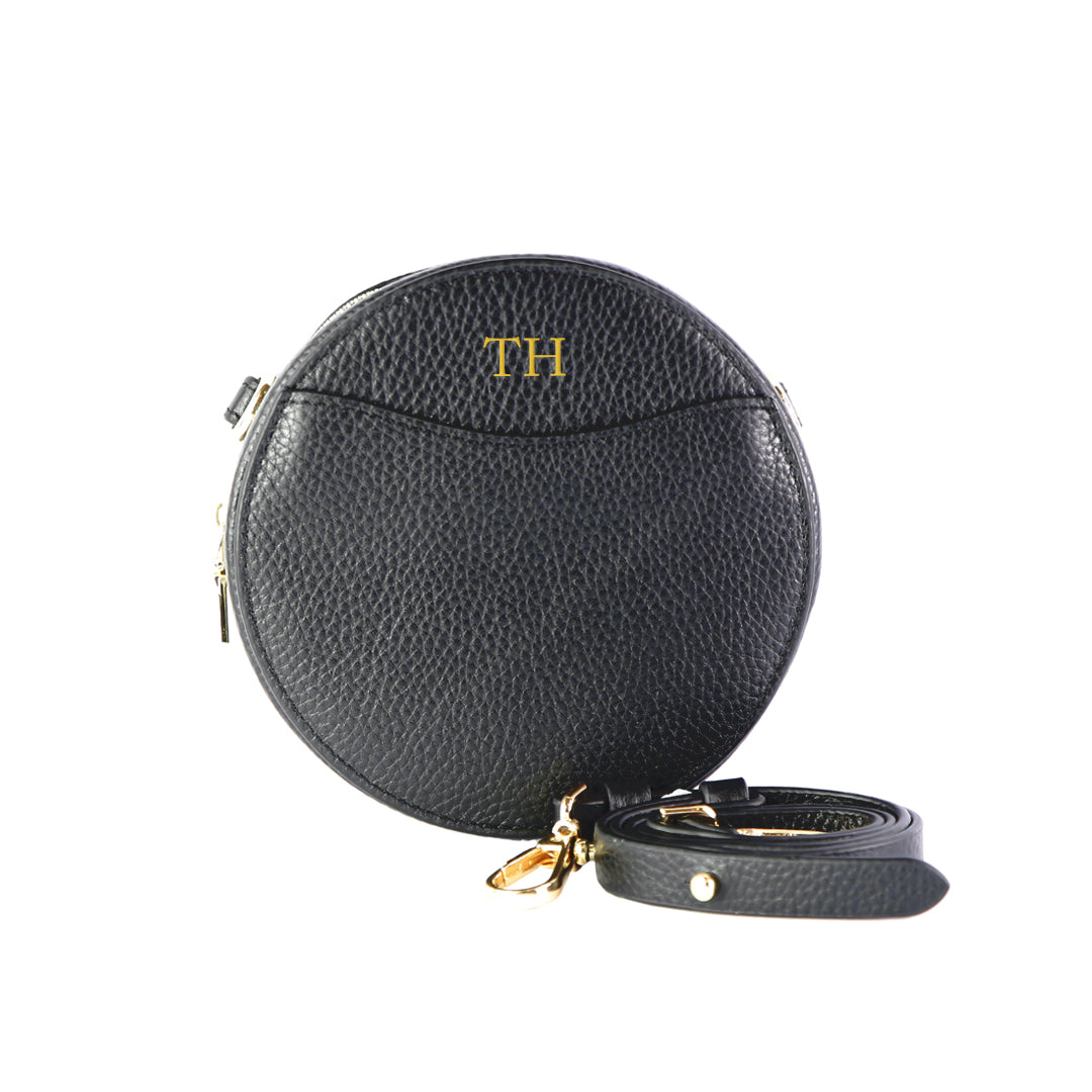 Mon Purse Mini Circle Belt Bag in Black
