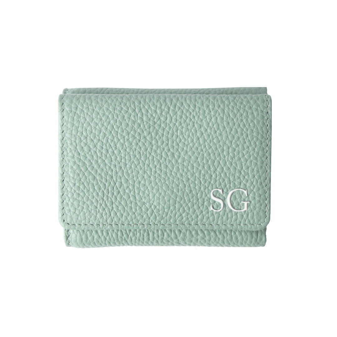 Mon Purse Mini Fold Wallet in Sage Green