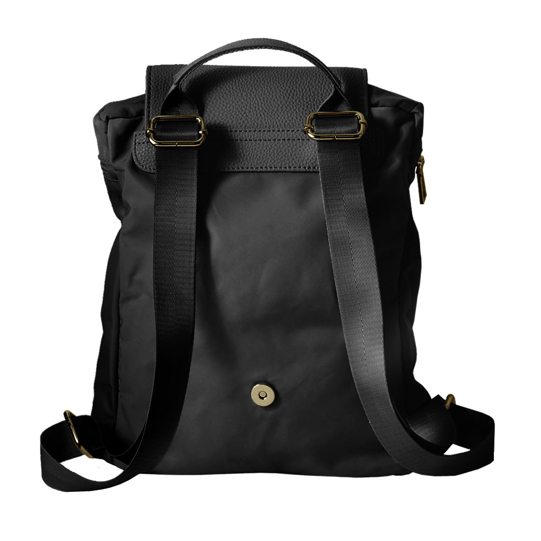 Mon Purse Nylon Finley Backpack in Black (Gold)