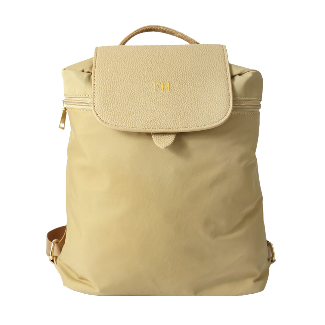 Mon Purse Nylon Finley Backpack in Stone (Gold)
