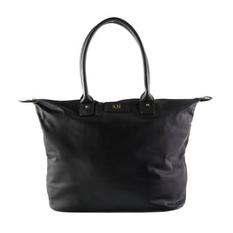 Mon Purse Nylon Day Tote in Black (Gold)